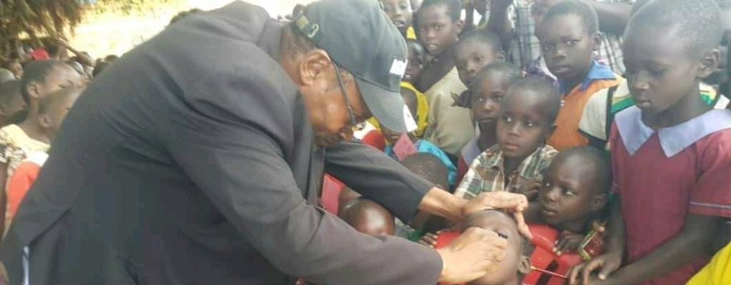DHO Patrick Magoola during the of Rubella immunization